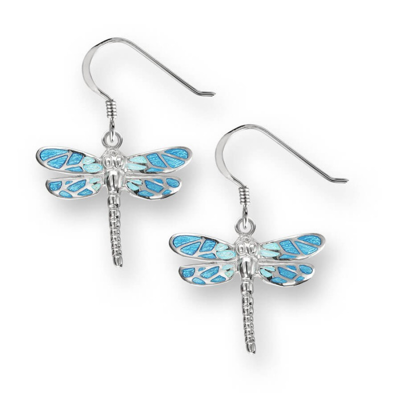 ENAMEL DROP DRAGONFLY EARRINGS £67